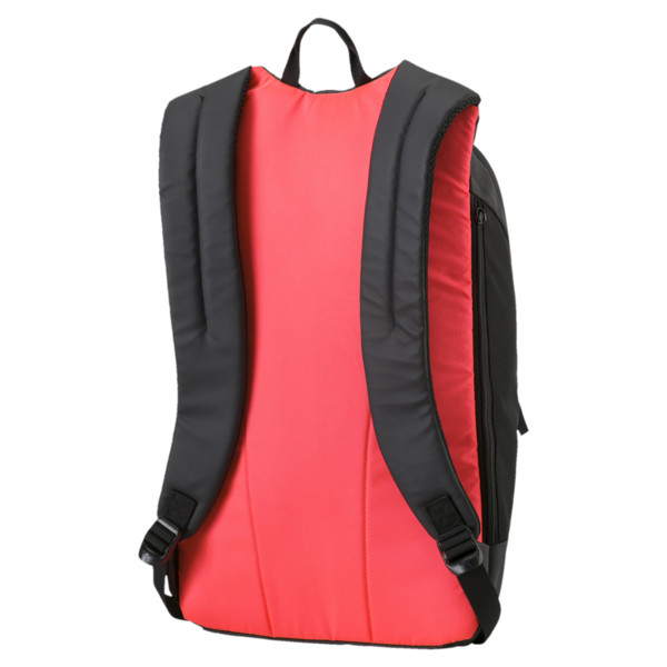 Football Final Pro Backpack, Puma Black-Fiery Coral, large