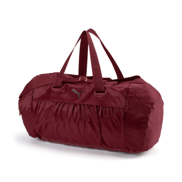 Active Training Women's Sports Duffle Bag, Pomegranate-gunmetal, large