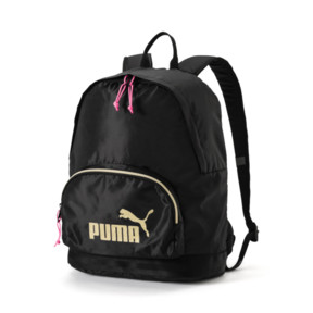 Thumbnail 1 of Women's Core Backpack, Puma Black-Gold, medium