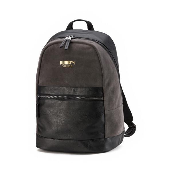 Suede Lux Backpack, Dark Shadow-Puma Black, large