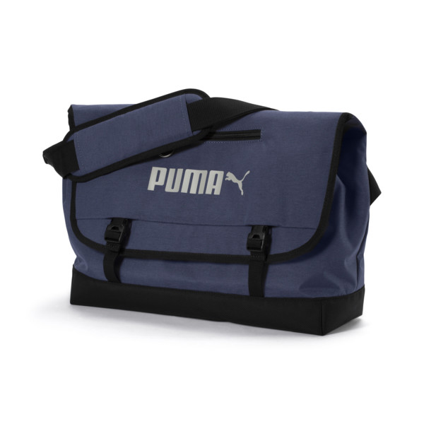 Campus Shoulder Bag Woven, Peacoat-Puma Black, large