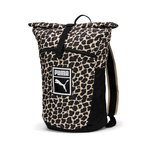 Originals Fast Track Wild Camo Backpack, Puma Black-Camo, large