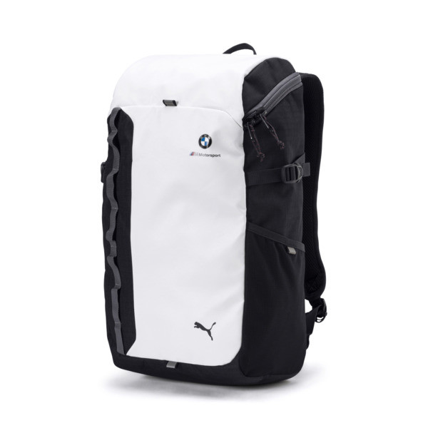 BMW M Motorsport Backpack, Puma White-Anthracite, large