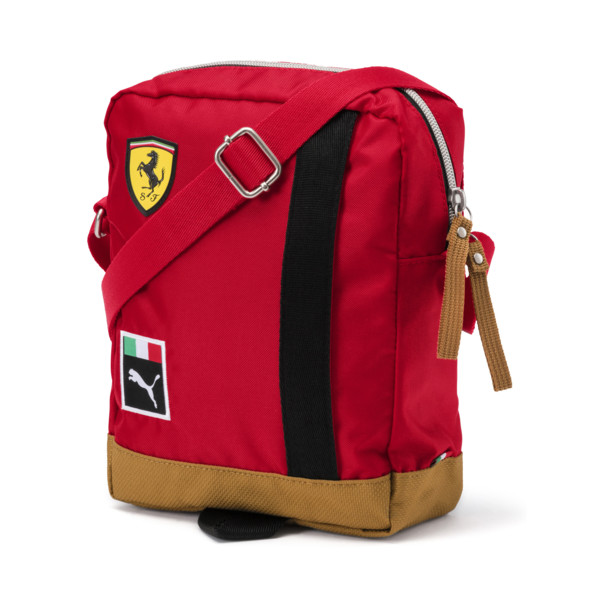 Ferrari Shoulder Bag, rosso corsa-Puma Black, large