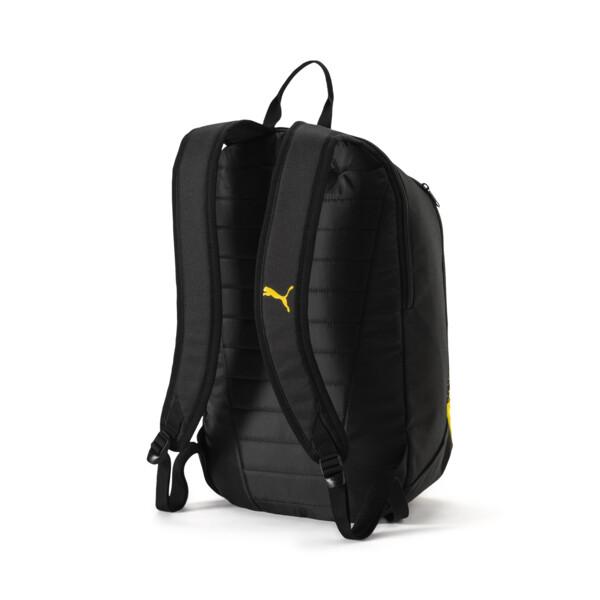 BVB Fanwear Backpack, Puma Black-Cyber Yellow, large