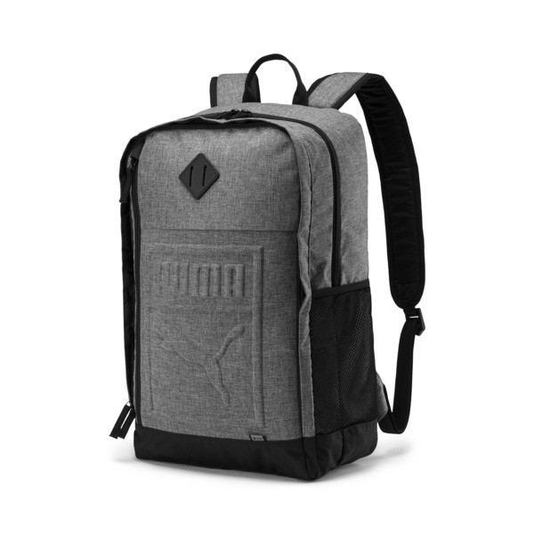 Square Backpack, Medium Gray Heather, large