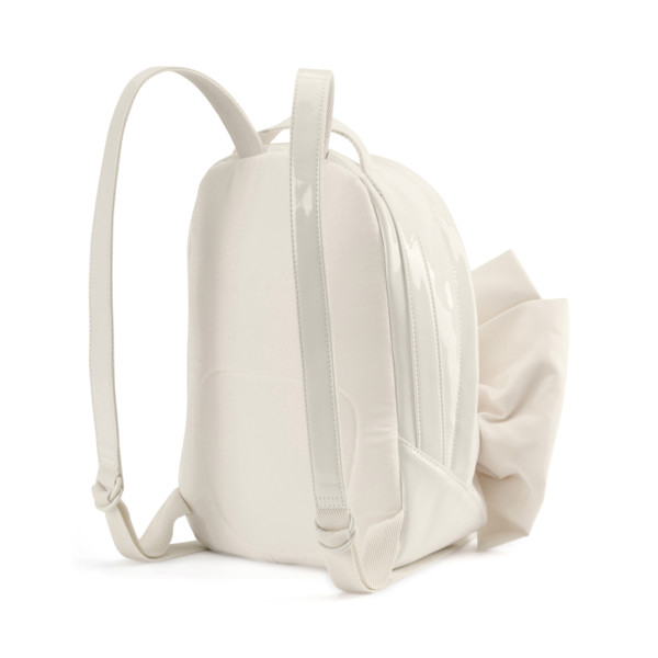 Archive Bow Suede Women's Backpack, Whisper White, large