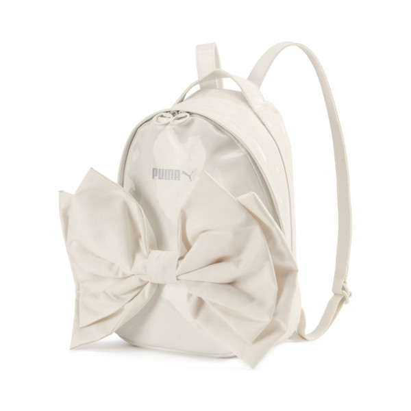 Archive Damen Bow Suede Rucksack, Whisper White, large