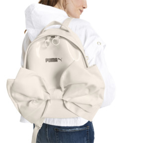 Thumbnail 4 of Archive Damen Bow Suede Rucksack, Whisper White, medium