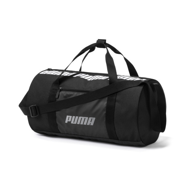 Small Women's Barrel Bag, Puma Black, large