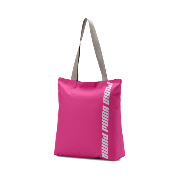 Core Shopper, Fuchsia Purple-Silver Gray, large