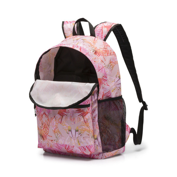 PUMA Academy Backpack, Pale Pink-Jungle AOP, large