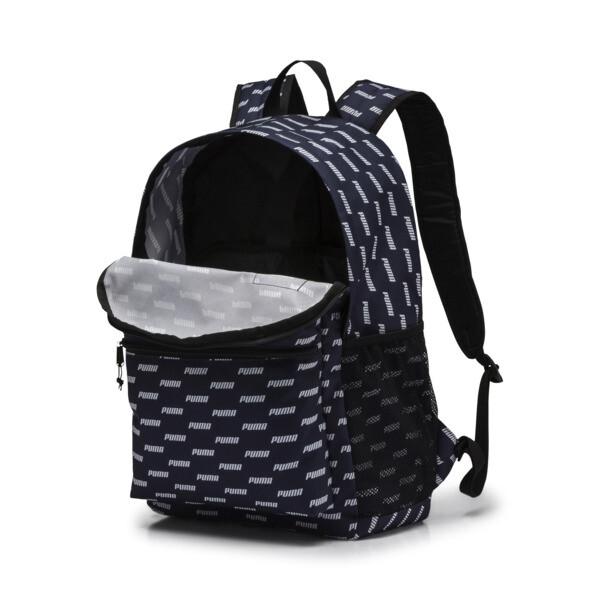 PUMA Academy Backpack, Peacoat-PUMA wording AOP, large