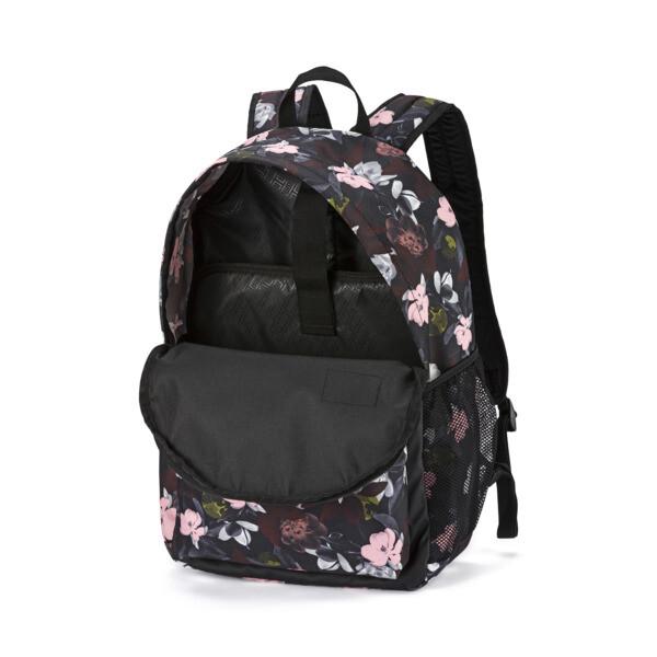 MochilaPUMA Academy, Puma Black-Floral AOP, grande