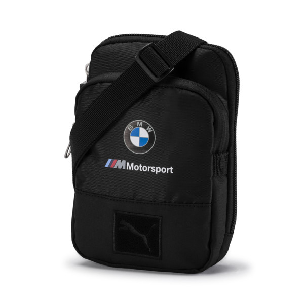 BMW Motorsport Small Portable Bag, Puma Black, large