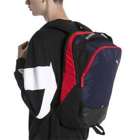 Thumbnail 2 of PUMA X Backpack, Peacoat-Puma Red-Puma Black, medium