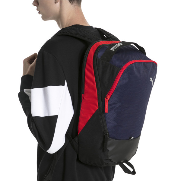 プーマ エックス バックパック (23L), Peacoat-Puma Red-Puma Black, large-JPN
