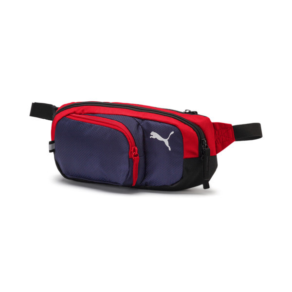 プーマ エックス マルチ ウエストバッグ (2.5L), Peacoat-Puma Red-Puma Black, large-JPN