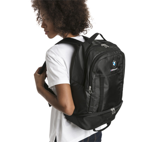 BMW M Motorsport RCT Backpack, Puma Black, large