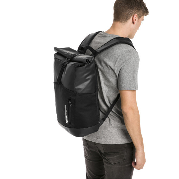 Energy rolltop Backpack, Puma Black, large