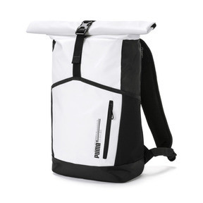 Humor New Arrival Puma Originals Large Capacity Grid Backpack Unisex Big Backpacks Black And White Sports Bags Climbing Bags