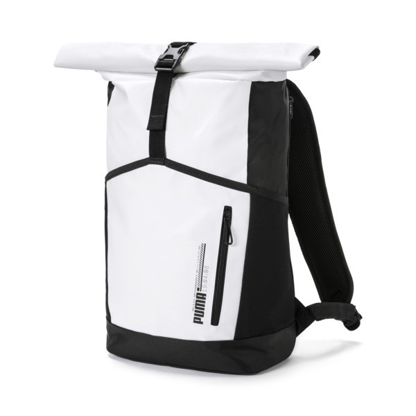 Energy rolltop Backpack, Puma White, large