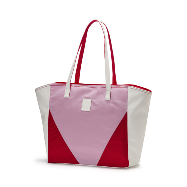 Prime Time Women's Large Shopper, Puma White-Hibiscus, large