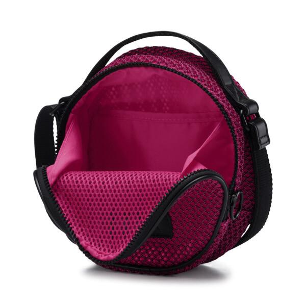Prime Time Festival Round Shoulder Bag, Fuchsia Purple-Puma Black, large