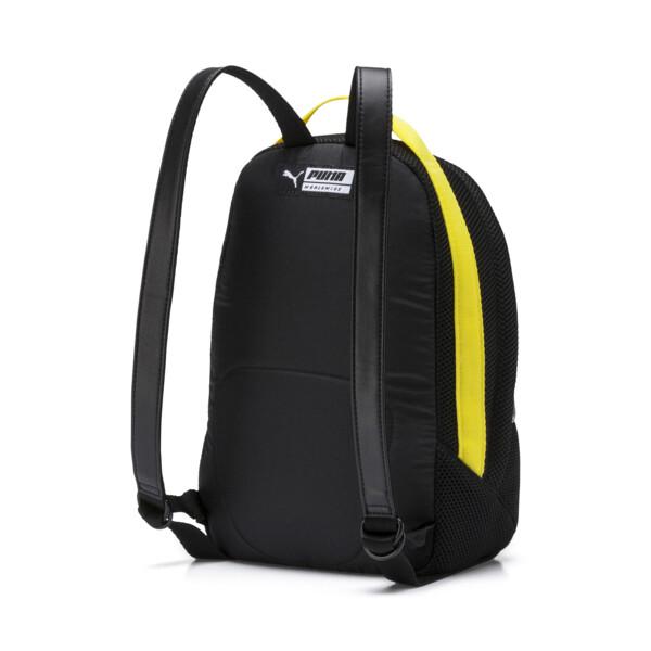 ウィメンズ プライム ストリート アーカイブ バックパック (7L), Puma Black-Blazing Yellow, large-JPN
