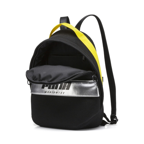 Prime Street Backpack, Puma Black-Blazing Yellow, large