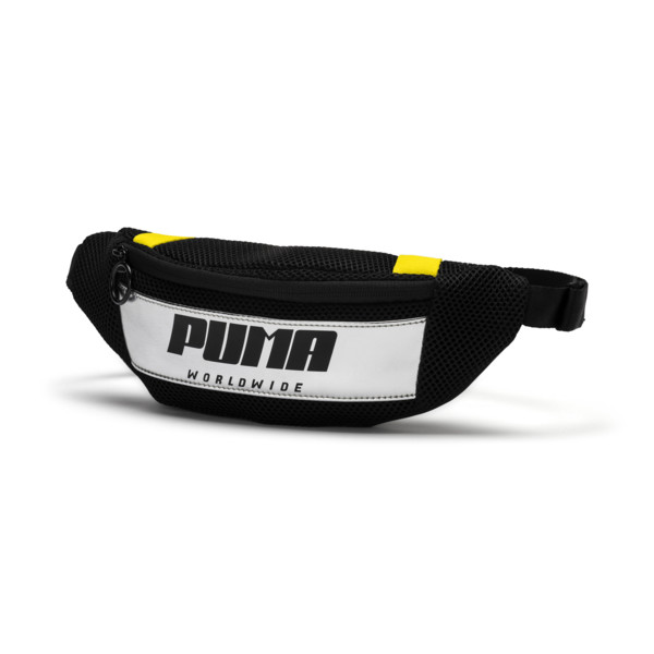 Street Damen Hüfttasche, Puma Black-Blazing Yellow, large