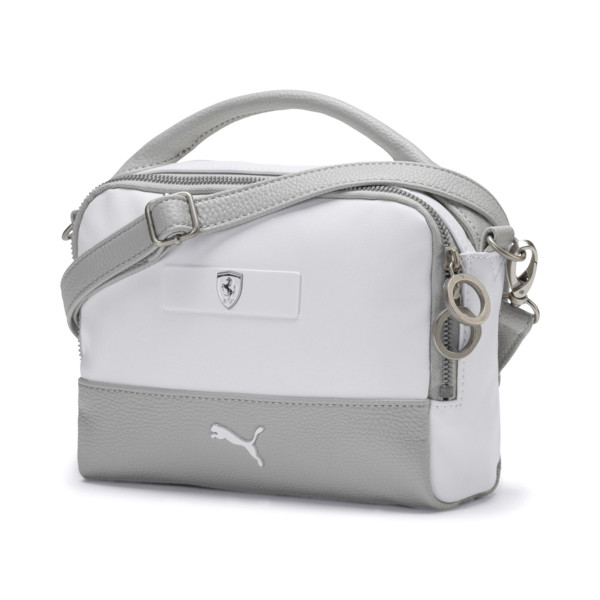 Ferrari Lifestyle Damen Mini Handtasche, Puma White-Gray Violet, large