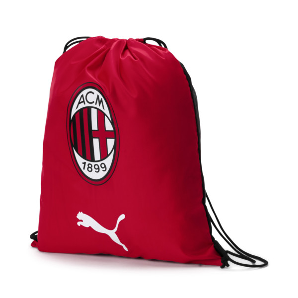 AC Milan Gym Sack, Tango Red-Puma Black, large
