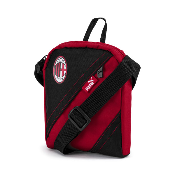 AC Milan City Shoulder Bag, Tango Red-Puma Black, large