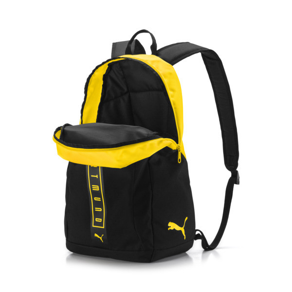 BVB Fan Backpack, Puma Black-Cyber Yellow, large