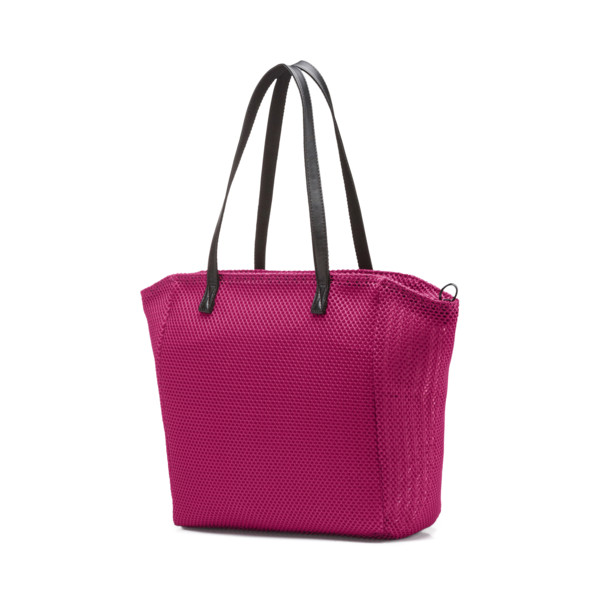 Prime Time Festival Large Shopper, Fuchsia Purple-Puma Black, large