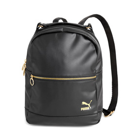 Thumbnail 1 of PUMA x KENZA Lux Women's Backpack, Puma Black-Gold, medium