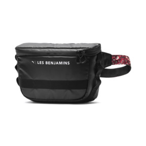 Thumbnail 1 of PUMA x LES BENJAMINS Waist Bag, Puma Black-AOP, medium