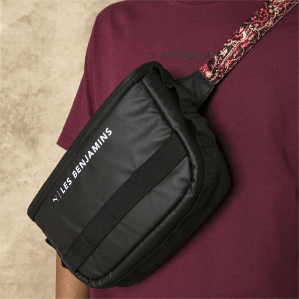PUMA x LES BENJAMINS Waist Bag, Puma Black-AOP, large