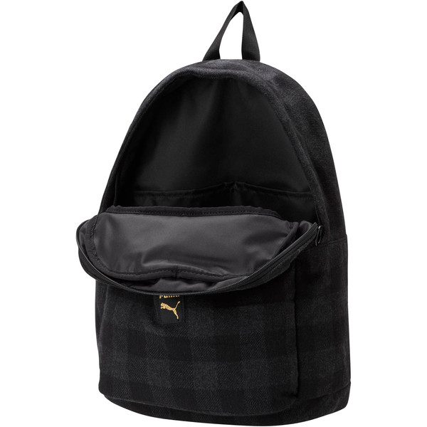 Check Backpack, Puma Black-Iron Gate-check, large