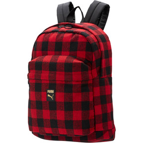 Thumbnail 1 of Check Backpack, Puma Black-Ribbon Red-check, medium