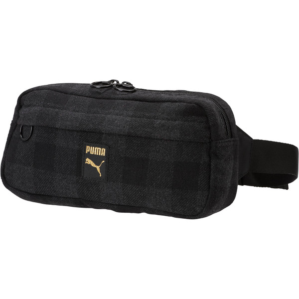 Checkered Waist Bag, Puma Black-Iron Gate-check, large