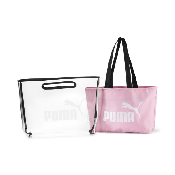 Women's Twin Shopper, Pale Pink, large