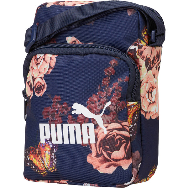 PUMA Classic Cat Portable, Peacoat-Flower AOP, large