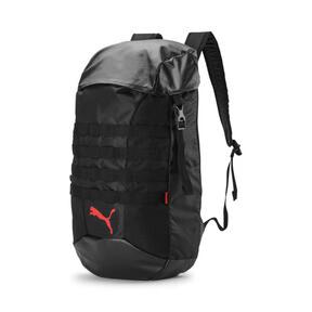 Thumbnail 1 of ftblNXT Backpack, Puma Black-Nrgy Red, medium