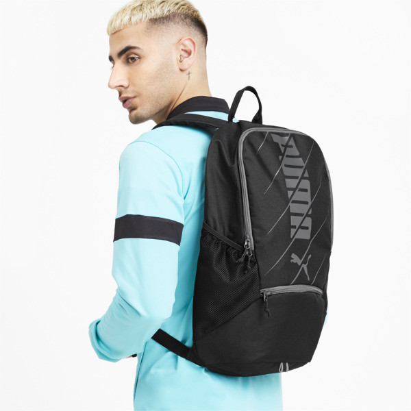 ftblPLAY Backpack, Puma Black-Asphalt, large