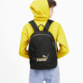 Thumbnail 3 of Core Seasonal Backpack, Puma Black-Gold, medium