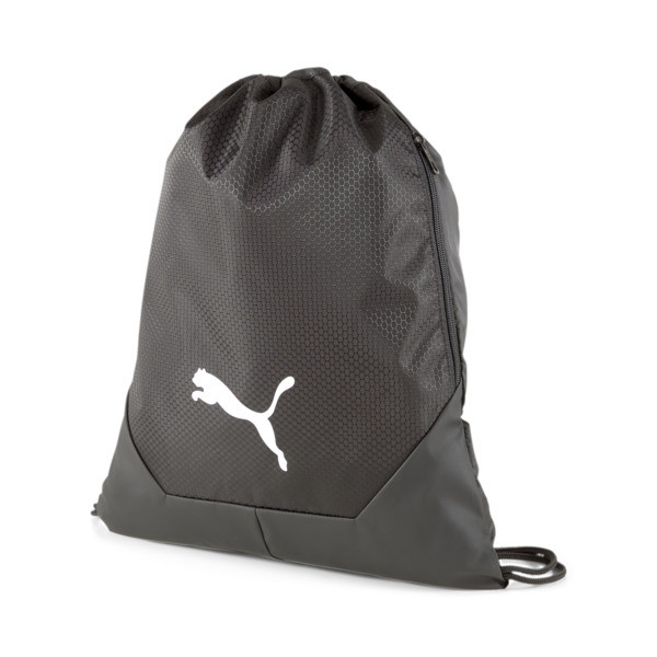 Small yet practical, with a convenient drawstring closure and secure side zip pocket for easy access, this bag is perfect for when you need to travel light. Tote your essentials in cool, sporty style every day.   PUMA teamFINAL 21 Gym Sack in Black
