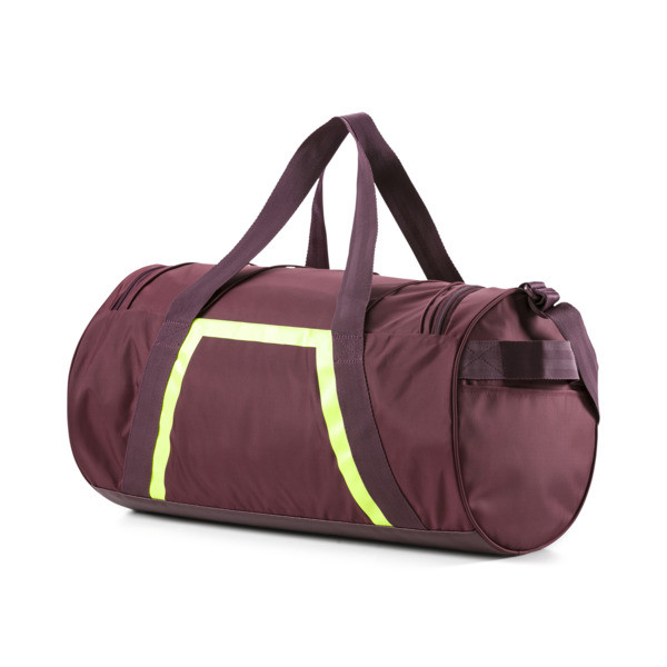 Active Training Shift Women's Duffel Bag, Vineyard Wine-Yellow Alert, large