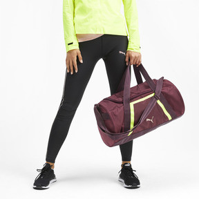 Thumbnail 2 of Active Training Shift Women's Duffel Bag, Vineyard Wine-Yellow Alert, medium